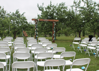 Allen's Orchard in Marion, Iowa hosts all kinds of events including weddings